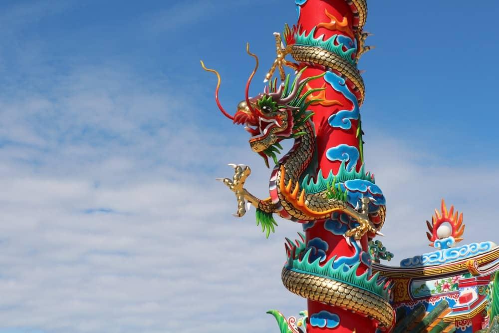 اژدهای چینی نماد کشور چین در بهروزسیر