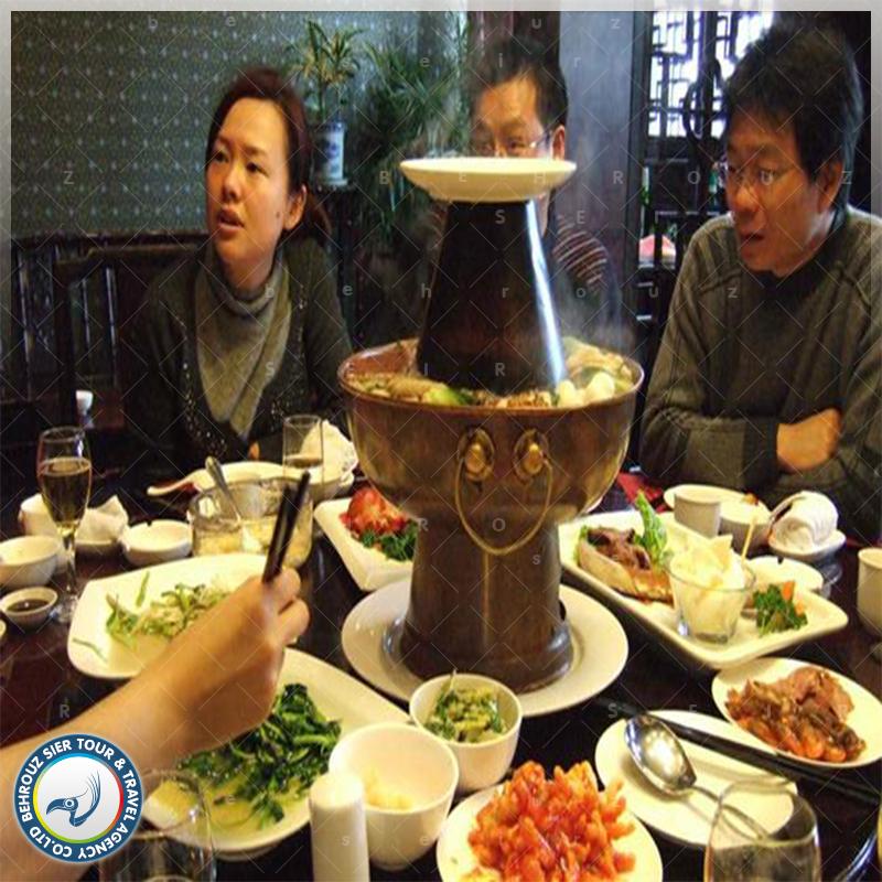 اداب غذا خوردن در تور چین بهروزسیر