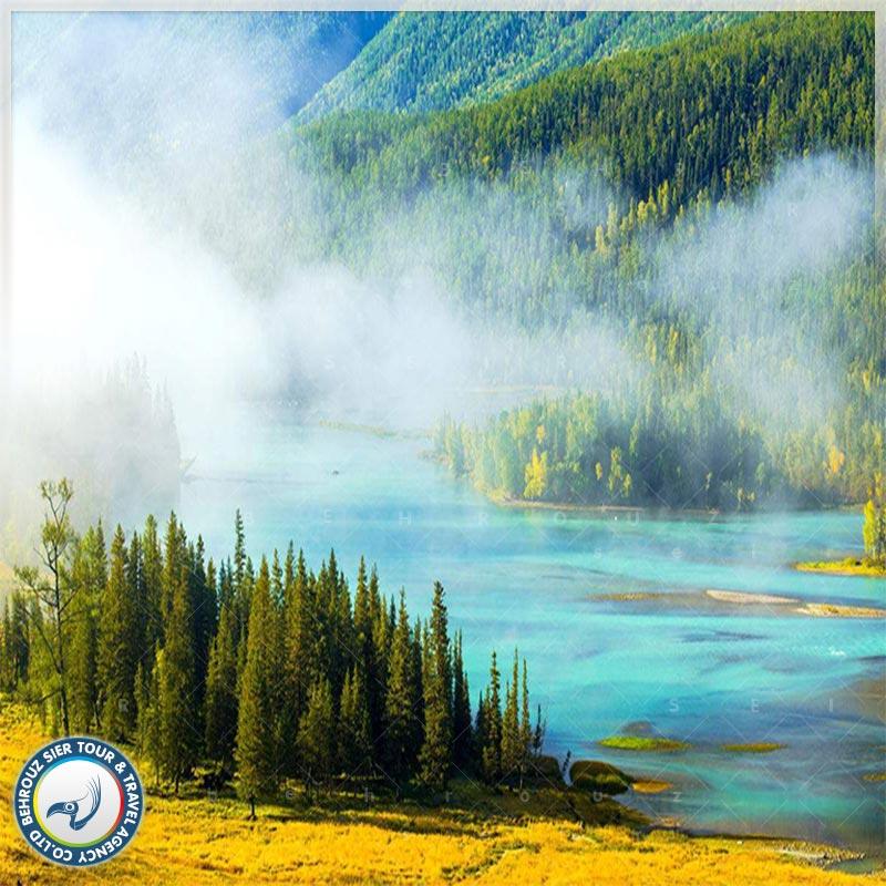 دریاچه-کاناس-در-ژین-جیانگ-1بهروزسیر