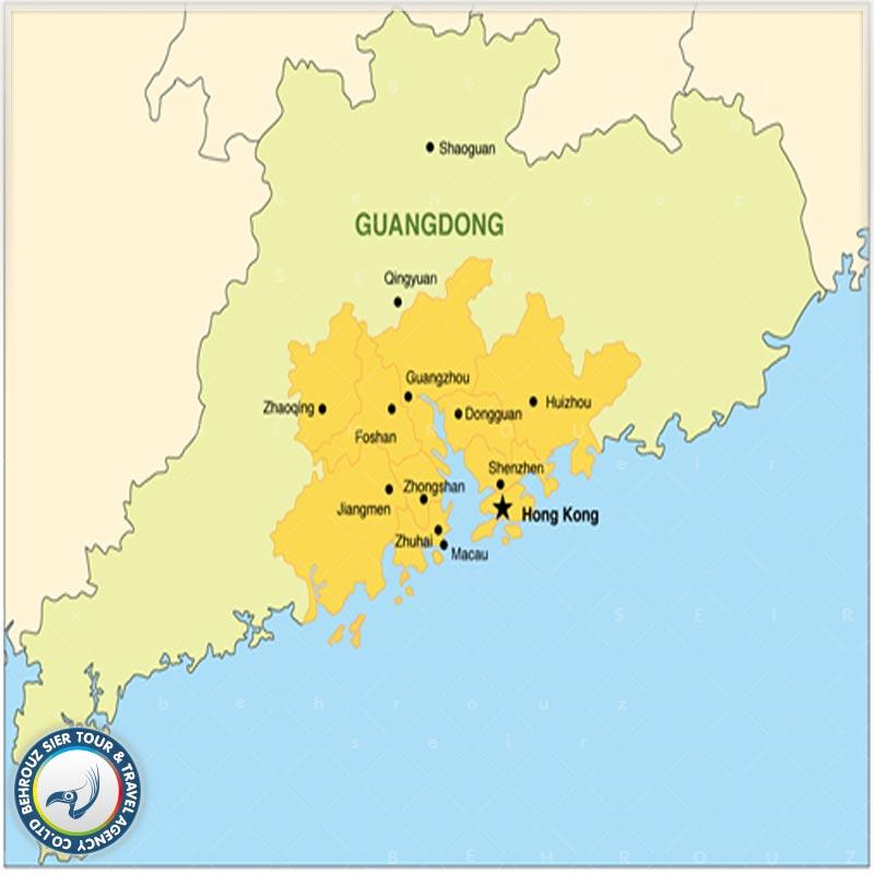 موقعیت-جغرافیایی-شهر-دونگ-دوآن-چین-بهروزسیر