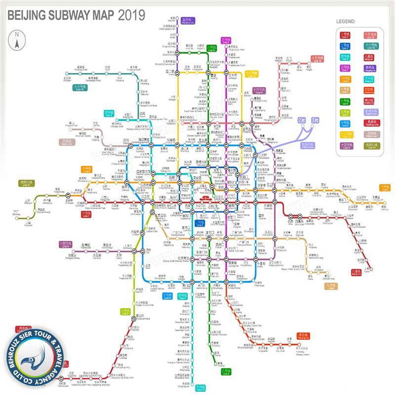 نقشه-مترو-در-شهر-پکن---بهروزسیر
